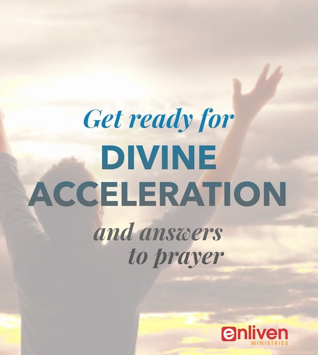 Get Ready for Divine Acceleration and Answers to Prayer, Person with arms up, clouds