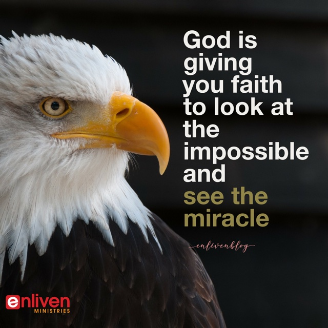 God is giving you faith in the face of shortage