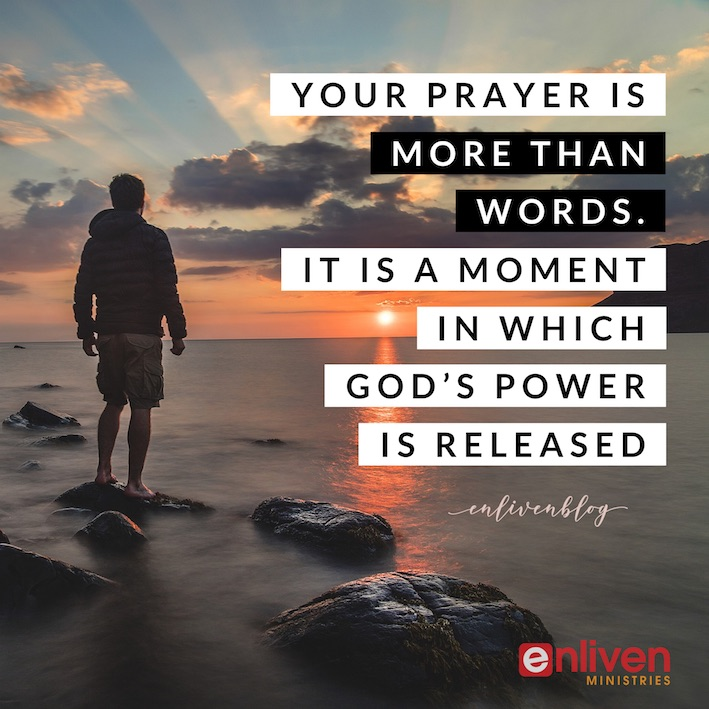 Your Prayer is Releasing God's Power! Person standing by sea