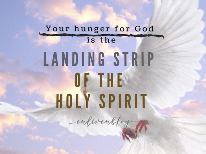 Your Hunger for God is the Landing Strip of the Holy Spirit, Dove flying, sky, clouds