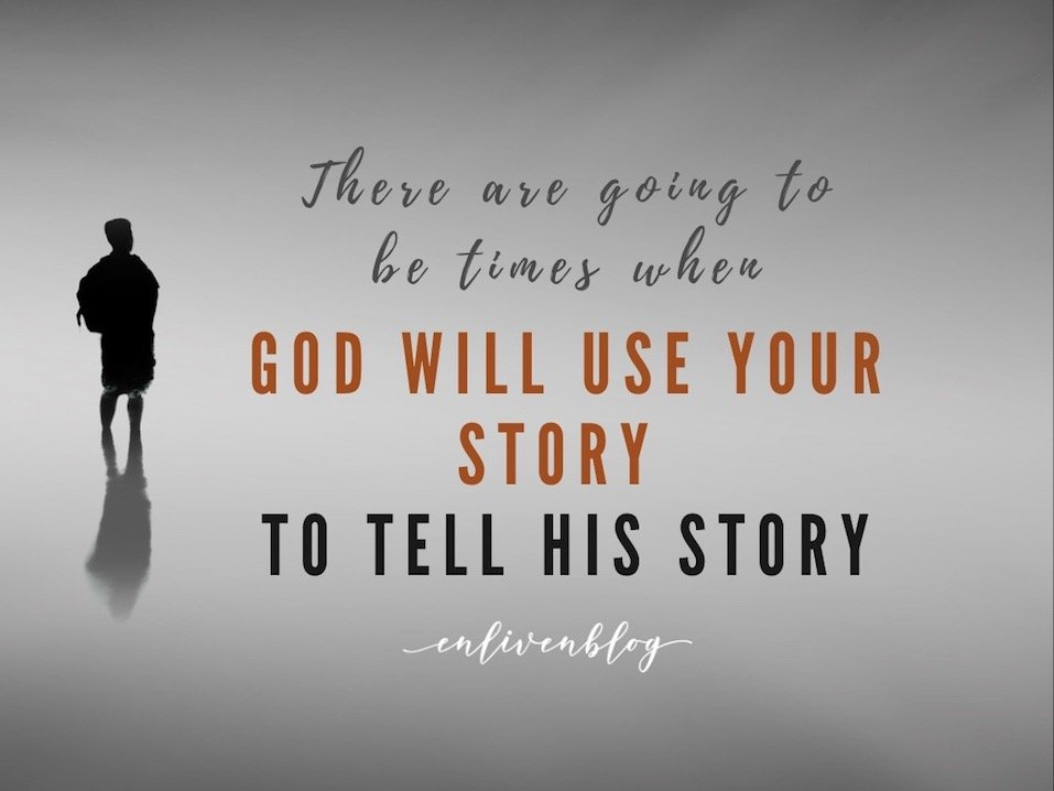 Prophet, God will use your story to tell His story, person standing