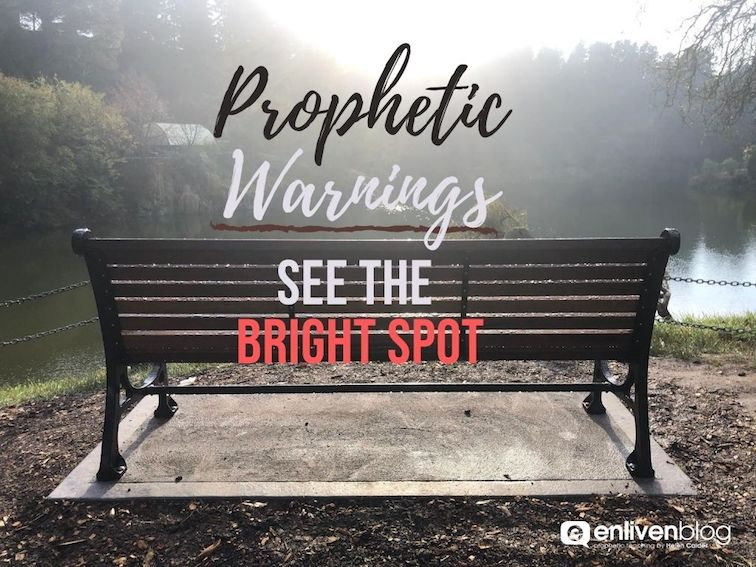 Prophetic Warnings, see the bright spot, chair in park