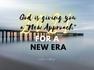 Photo of Pier with text 2021, God is giving you a new approach for a new era